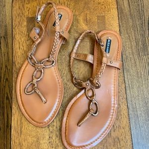Brown flat sandal